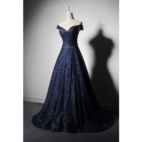 Designer Formal Prom Dress Navy Blue or Red