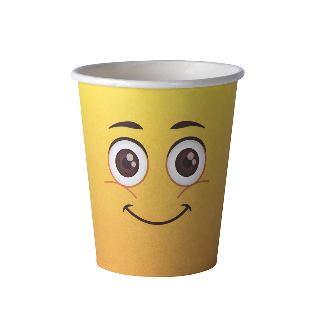 Emoji Themed 9 oz Disposable Paper Cups (50 Pack)