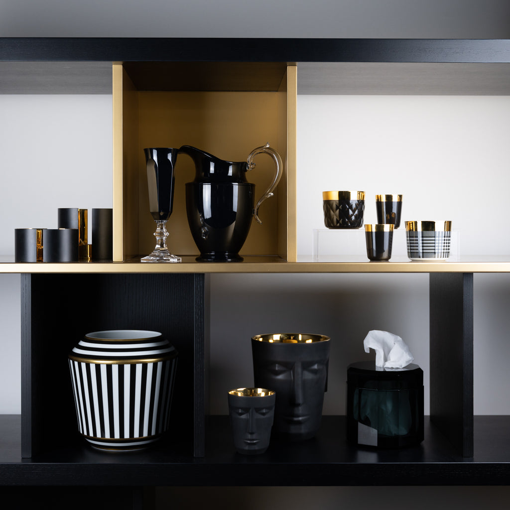 Mother's Day Gift Ideas Black Furstenburg Luna vase, Mario Luca Giusti acrylic ware and skutuna