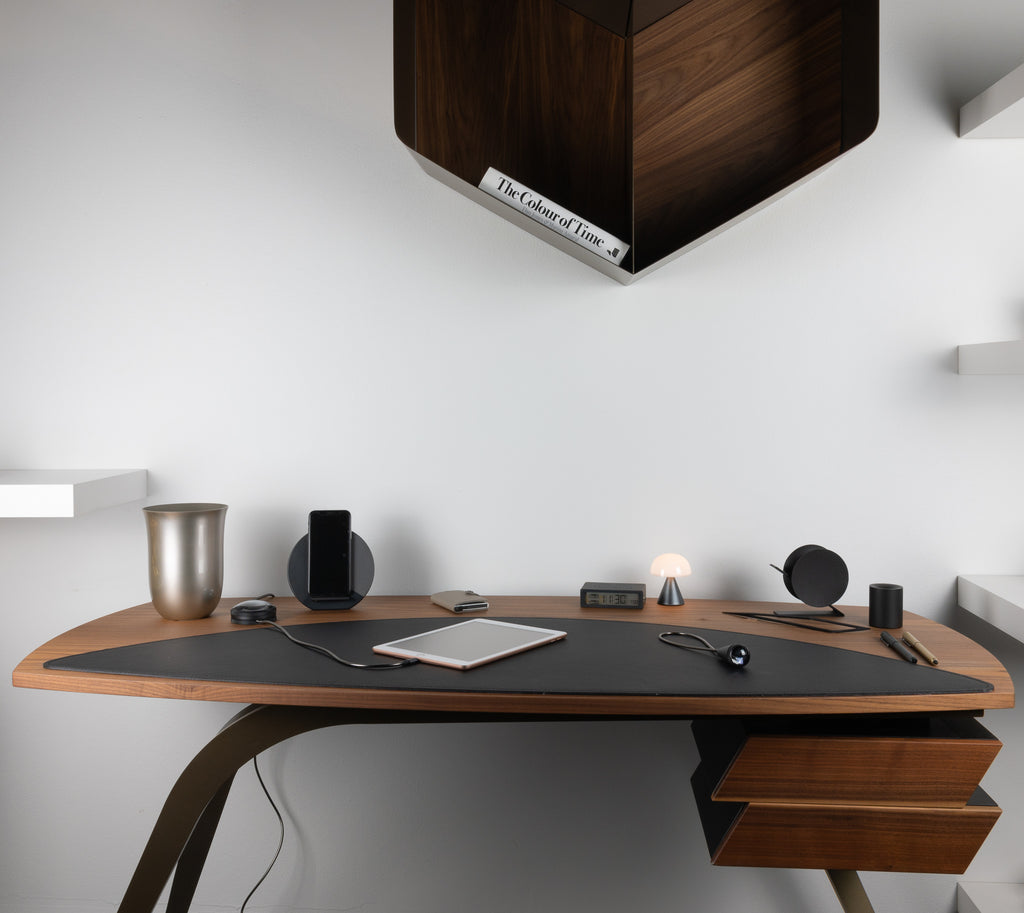 Tonin Casa Logos desk with accessories from lexon, native union and beyond object