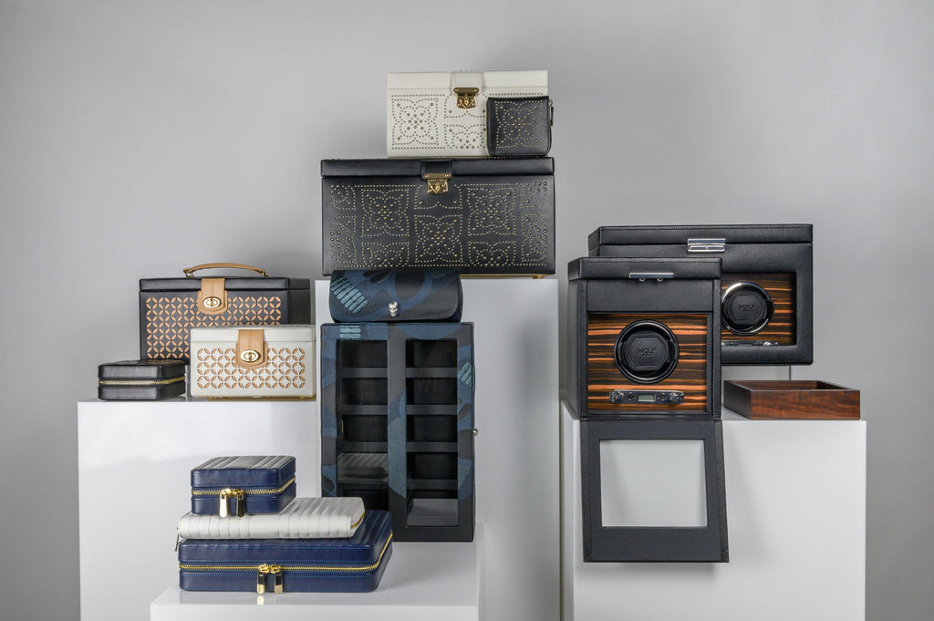 Wolf watch winders, watch boxes, jewellery boxes, travel jewellery cases and travel watch rolls