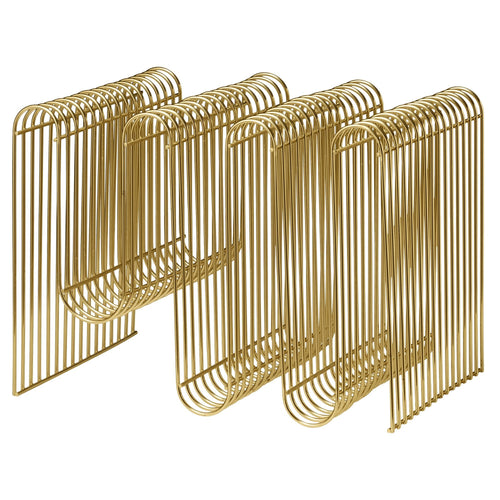 Curva Magazine Holder Gold