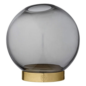 AYTM Globe Vase with Stand Black/Gold- S