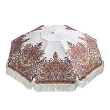 Load image into Gallery viewer, Basil Bangs Outdoor Basil Bangs Beach Umbrella with Fringe- Delfina