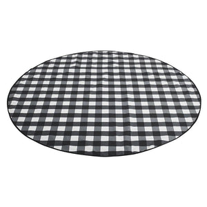 Basil Bangs Love Rug - Gingham Black