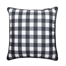 Load image into Gallery viewer, Basil Bangs Outdoor Basil Bangs Outdoor Cushion cover - Gingham Black