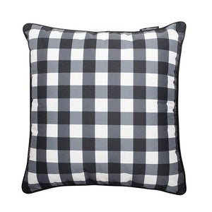 Basil Bangs Outdoor Cushion cover - Gingham Black