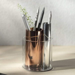 Beyond Object Penpo Desk Organiser Copper and Silver