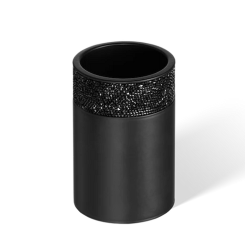 DECOR WALTHER BOD 1 Rocks Open Box or Tumbler in Matt Black and Swarovski Crystals