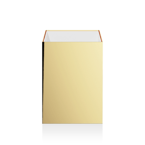 Decor Walther DW 74 Paper Bin NO Lid- Polished Gold