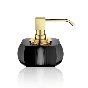 Decor Walther KR SSP KRISTALL Soap Dispenser- Anthracite and Gold