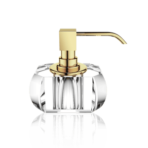 Decor Walther KR SSP KRISTALL Soap Dispenser- Clear and Gold