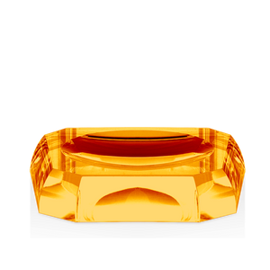 DECOR WALTHER KR STS KRISTALL Soap Dish- Amber