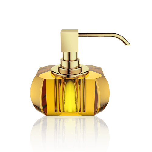 Decor Walther KR SSP KRISTALL Soap Dispenser- Amber and Gold