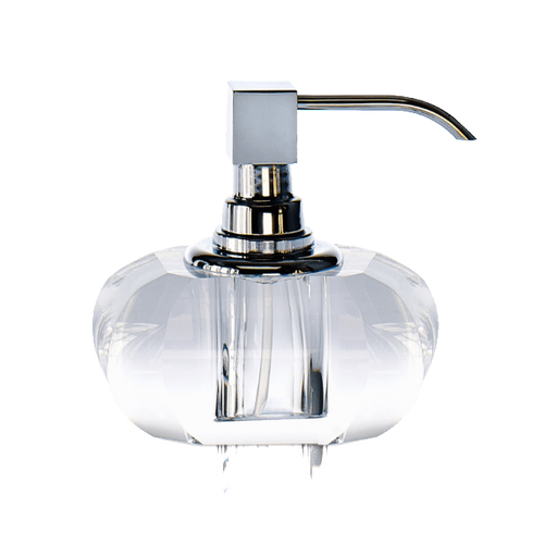 Decor Walther KRISTALL Soap Dispenser- Clear and Chrome