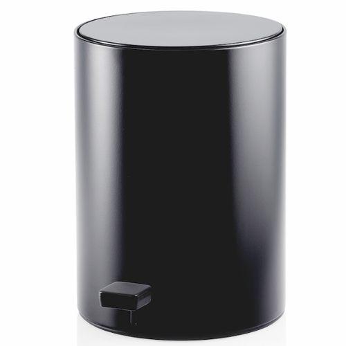Decor Walther TE 50 Round Pedal Bin- Black Matt
