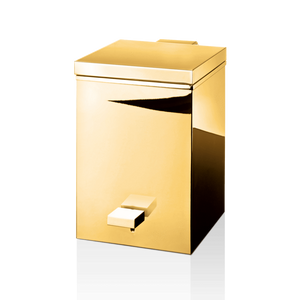 Square Pedal bin with Softclose function - gold