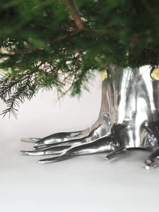 Garden Glory Christmas Tree Stand- Silver
