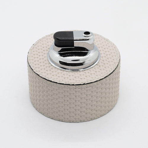 Giobagnara Leather Montego Table Cigar Lighter- Grey Bellagio