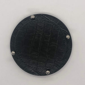 Giobagnara David Coasters w/holder- Black Crocodile