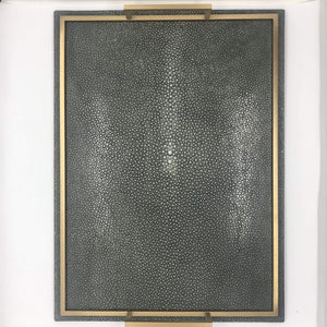 Giobagnara Defile Medium Tray in Shagreen - Mud