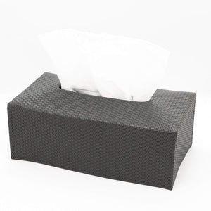 Giobagnara Ready Leather Rectangular Tissue Holder- Slate Bellagio