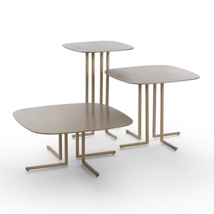 Giulio Marelli Elle Small Table 43: Shiny Brass