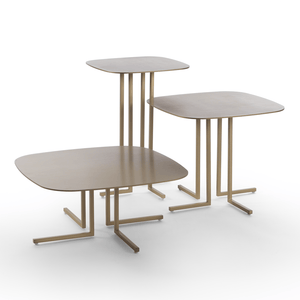 Giulio Marelli Elle Small Table 57: Shiny Brass