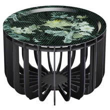 Load image into Gallery viewer, ibride- Medusa Outdoor Coffee Table Black with Emerald Tray Medium