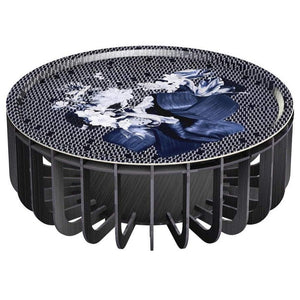 ibride- Medusa Outdoor Coffee Table Black with Sapphire Tray Large