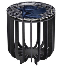 Load image into Gallery viewer, Ibride Table ibride- Medusa Outdoor Coffee Table Black with Sapphire Tray Small