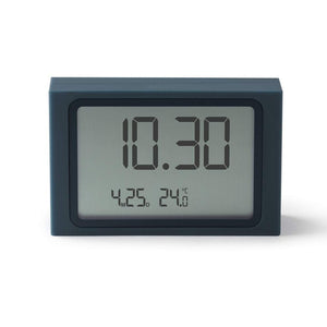 Lexon Slide Clock LCD Alarm- Dark Blue