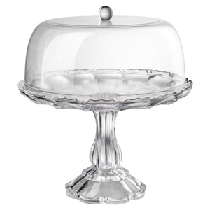 Mario Luca Giusti Girasole Cake Stand with Dome- Clear