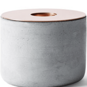Menu Chunk of Concrete Candle Holder Copper- Large