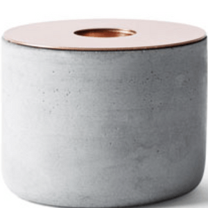 Menu Chunk of Concrete Candle Holder Copper- Small