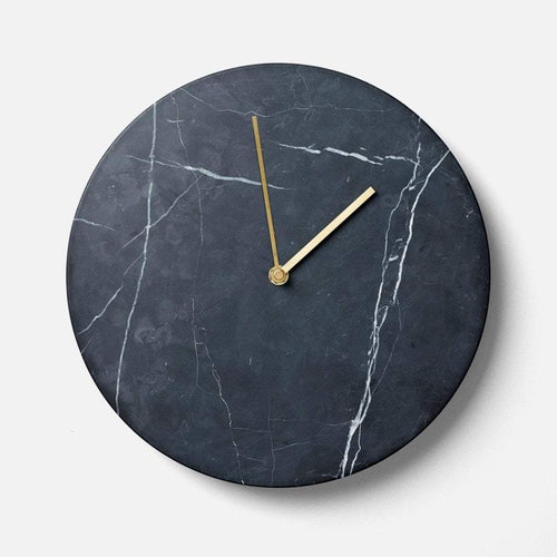 Menu Marble Wall Clock- Black