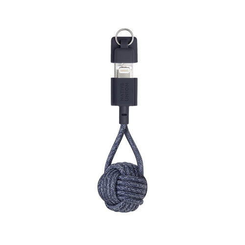 Native Union Key Charging Cable and Keychain - Indigo