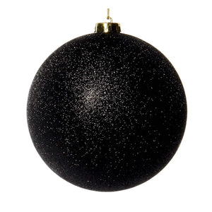 Christmas Black Glitter Bauble Ornament -15cm