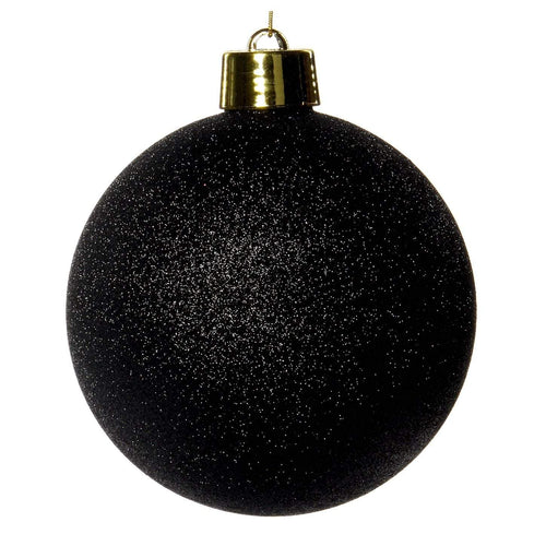 Christmas Black Glitter Bauble Ornament - 20cm