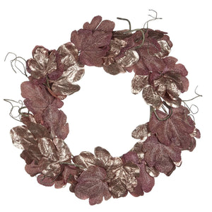 Christmas Copper Metallic Fig Leaf Wreath