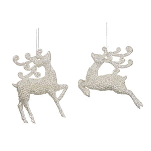 Christmas Deer Ornament in Champagne