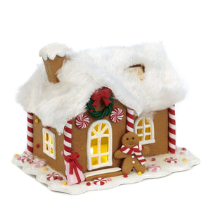 Christmas Gingerbread House Decoration with LED Lights