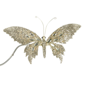 Christmas Glitter Butterfly Decoration Clip Ornament