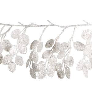Christmas Glitter Honestly Petal Garland in White