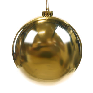 Christmas Gloss Gold Bauble Ornament - 15cm