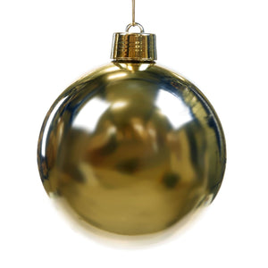 Christmas Gloss Gold Bauble Ornament - 20cm