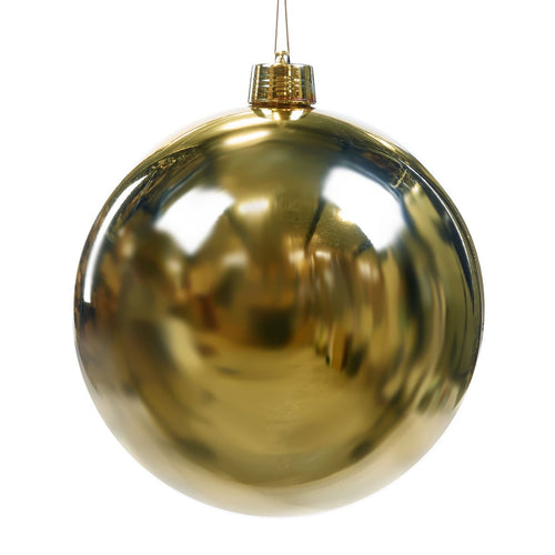 Christmas Gloss Gold Bauble Ornament - 30cm
