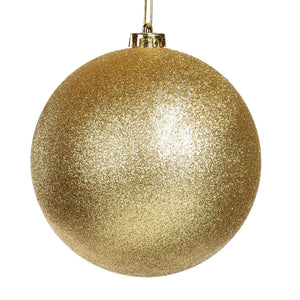 Christmas Gold Glitter Bauble Ornament - 15cm