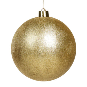 Christmas Gold Glitter Bauble Ornament - 30cm