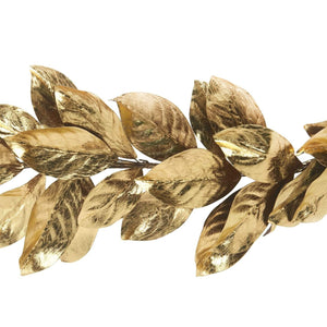 Christmas Gold Magnolia Leaf Garland
